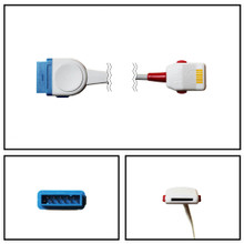 Masimo OEM 1890 LNOP to Marquette SpO2 Extension Cable