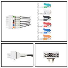 GE 6 Lead Dual Apex ECG Telemetry Leadwires (Grabber) (421932-001)