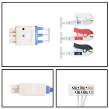 Nihon Kohden 5 Lead Dual Pin to 3 Lead ECG Leadwires (Grabber)