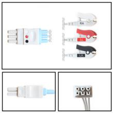 GE Datex-Ohmeda 3 Lead Dual Pin ECG Leadwires (Grabber) (545317-HEL)