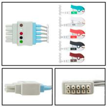 GE Datex-Ohmeda 5 Lead Dual Pin ECG Leadwires (Grabber) (412681-001)