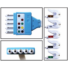 Philips 5 Lead Single Pin Disposable ECG Leadwires (Grabber) - (Box of 10)