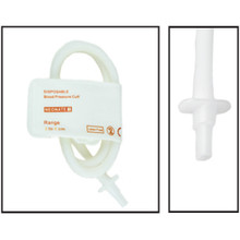 NiBP Disposable Cuff Single Tube Neonate Size 1 (3-6cm) -  Soft Fiber (Box of 10)