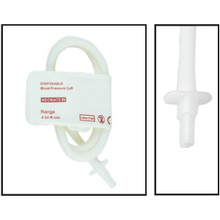 NiBP Disposable Cuff Single Tube  Neonate Size 2 (4-8cm) -  Soft Fiber (Box of 10)