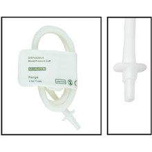 NiBP Disposable Cuff Single Tube  Neonate Size 3 (6-11cm) -  Soft Fiber (Box of 10)