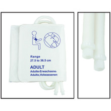 NiBP Disposable Cuff Dual Hose Adult (27.5-36.5cm) (Screw Fitting) PM08 - Soft Fiber (Box of 5)