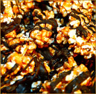 Chocolate Drizzled Popcorn - Dark Caramel W/ peanuts