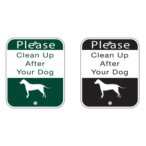 "SIGN  ""Clean Up After Your Dog"" Item #: BW-SIGN"