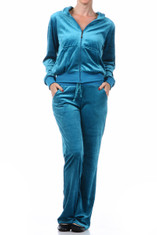 Juniors Plus Size Velour Jogging Suit