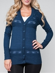 Knit Button-up Long Sleeve Cardigan