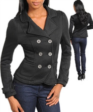 Waist Length Double Breasted Jacket