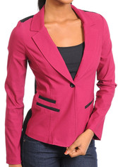 Color Block Long Sleeve Blazer