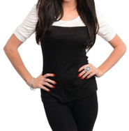 Black&Ivory Knit Short Sleeve Top
