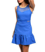 Sleeveless Lace Drop Waist Dress