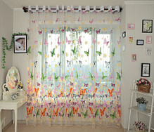 DMC492 Sheer Curtains - Dolce Mela - Brazilian Butterflies