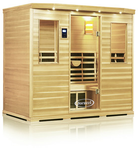 Clearlight 5  Person Sauna Premier Basswood