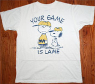 Mens Peanuts Your Game is Lame T-Shirt by Junk Food Clothing