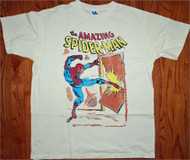 Mens The Amazing Spider-Man T-Shirt in White by Junk Food Clothing