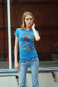 Spider-Man Womens T-Shirt in Blue by Junk Food Clothing