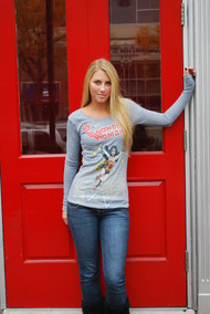Wonder Woman Womens Thermal Shirt by Junk Food Clothing