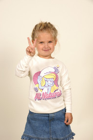 Smurfs All Natural Girls Thermal T-Shirt by Junk Food Clothing