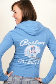 NFL Boston Patriots Zip Up Womens Hoodie by Junk Food Clothing
