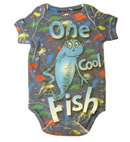 Dr. Seuss One Cool Fish Baby Bodysuit