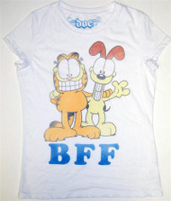 Garfield & Odie BFF Vintage Juniors T-Shirt by Doe