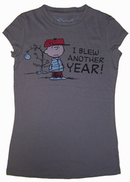 Peanuts I Blew Another Year Vintage Juniors T-Shirt by Doe
