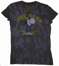 Peanuts Snoopy Joe Boss Vintage Juniors T-Shirt by Doe