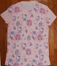 Hello Kitty With Apples All Over Girly Vintage T-Shirt by Mighty Fine
