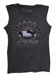 Hello Kitty Bang Your Head Girly Vintage Sleeveless T-Shirt by Doe