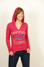 NFL Buffalo Bills Lightweight Womens V-Neck Hoodie by Junk Food Clothing