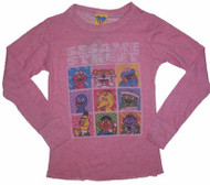 Sesame Street Characters Girls Thermal Shirt by Junk Food Clothing