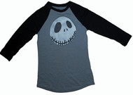 A Nightmare Before Christmas Vintage Girly Raglan T-Shirt by Mighty Fine