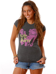 Vintage Style Life of the Party Girly T-Shirt by Crooked Monkey