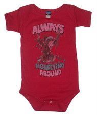 Curious George Always Monkeying Around Infant Snapsuit by Junk Food Clothing