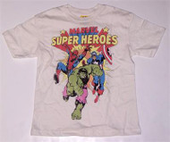 Marvel Super Heroes Boys T-Shirt in White by Junk Food Clothing