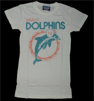 NFL Miami Dolphins Womens T-Shirt in White by Junk Food Clothing