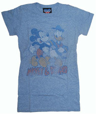 Disney Mickey Mouse & Donald Duck Womens T-Shirt by Junk Food Clothing