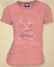 Disney Mickey Mouse Rodeo Womens T-Shirt by Junk Food Clothing