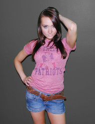 NFL New England Patriots Womens Tri-Blend T-Shirt by Junk Food Clothing