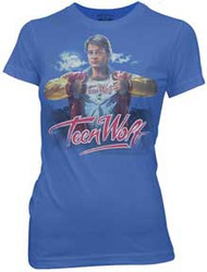 Teen Wolf Movie Poster Juniors T-Shirt