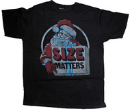 Mens Size Matters Santa T-Shirt by Junk Food Clothing