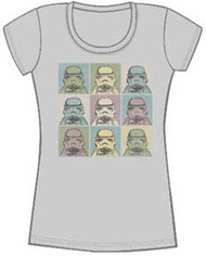 STAR WARS RETRO BLOCK JUNIORS TEE SHIRT