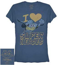 Spongebob Squarepants I Heart Super Heroes Juniors T-Shirt