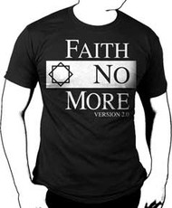 Faith No More Classic Logo Black Mens T-Shirt