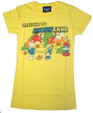 Smurfs Welcome to Smurfland Womens T-Shirt by Junk Food Clothing