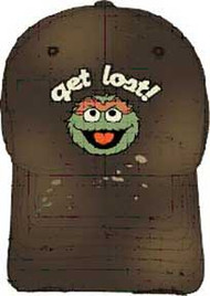 Sesame Street Oscar the Grouch Get Lost Distressed Hat