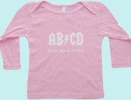 Copy of AB/CD Pink Long Sleeve Kids T-Shirt